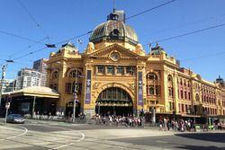 La gare Flinders, à Melbourne
