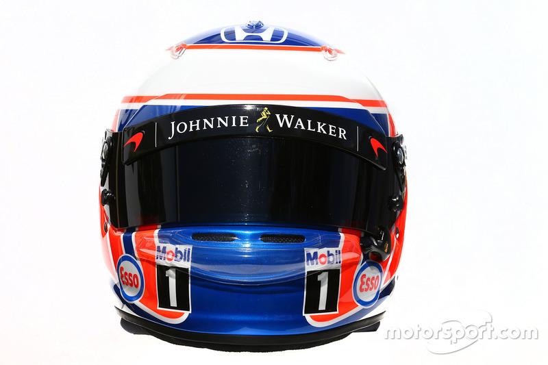 Le casque de Jenson Button, McLaren