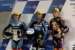 Livio Loi, RW Racing GP BV, Honda; Romano Fenati, SKY Racing Team VR46, KTM; Brad Binder, Red Bull K