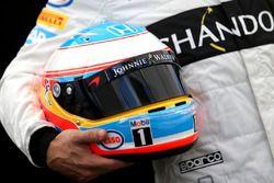Casque de Fernando Alonso, McLaren