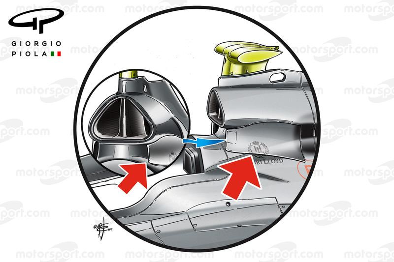 Airbox Lufteinlass, Mercedes W01