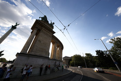 Auto al centro di Budapest