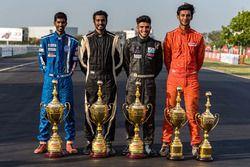 Championship winners: Keith Desouza, Arjun Narendran, Vikash Anand, Raghul Rangasamy