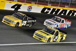 Dalton Sargeant, GMS Racing, Chevrolet Silverado Performance Plus Motor Oil, Cody Coughlin, GMS Racing, Chevrolet Silverado Jeg's.com and Daniel Hemric, Young's Motorsports, Chevrolet Silverado