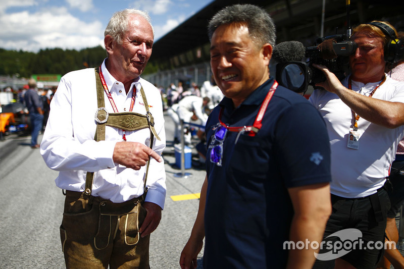 Helmut Markko, Red Bull Racing, Masashi Yamamoto, General Manager, Honda Motorsport