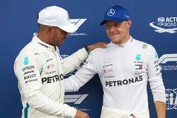 Pole sitter Valtteri Bottas, Mercedes AMG F1, second place Lewis Hamilton, Mercedes AMG F1