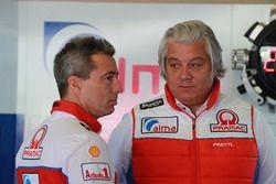Francesco Guidotti, Team manager Pramac Racing, Paolo Campinoti, Team principal Pramac Racing
