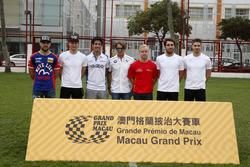 All former Macau race winners, Laurens Vanthoor, Craft Bamboo Racing, Porsche 911 GT3R, Maro Engel, Mercedes-AMG Team GruppeM Racing, Mercedes - AMG GT3, Lucas di Grassi, HCB-Rutronik-Racing, Audi R8 LMS, Augusto Farfus, BMW Team Schnitzer, BMW M6 GT3, Felix Rosenqvist, Scuderia Corsa, Ferrari 488 GT3, Daniel Juncadella, Mercedes-AMG Team Driving Academy, Mercedes - AMG GT3, Edoardo Mortara, Mercedes-AMG Team Driving Academy, Mercedes - AMG GT3