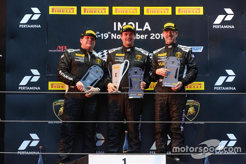 Podio Europa LB Cup: al primo posto William Van Deyzen, Van Der Horst Motorsport, al secondo posto Gerard Van der Horst, Van Der Horst Motorsport, al terzo posto Toro Loco: Tim Richards, Toro Loco