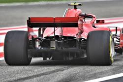 Detalle trasero del Ferrari de Kimi Raikkonen, Ferrari