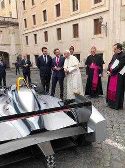Pope Francis, Alejandro Agag, CEO, Formula E