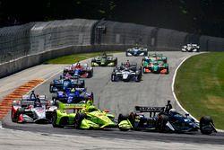 Jordan King, Ed Carpenter Racing Chevrolet, Simon Pagenaud, Team Penske Chevrolet
