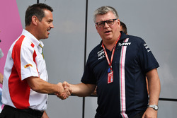 Martin Pope, DHL and Otmar Szafnauer, Force India Formula One Team Chief Operating Officer
