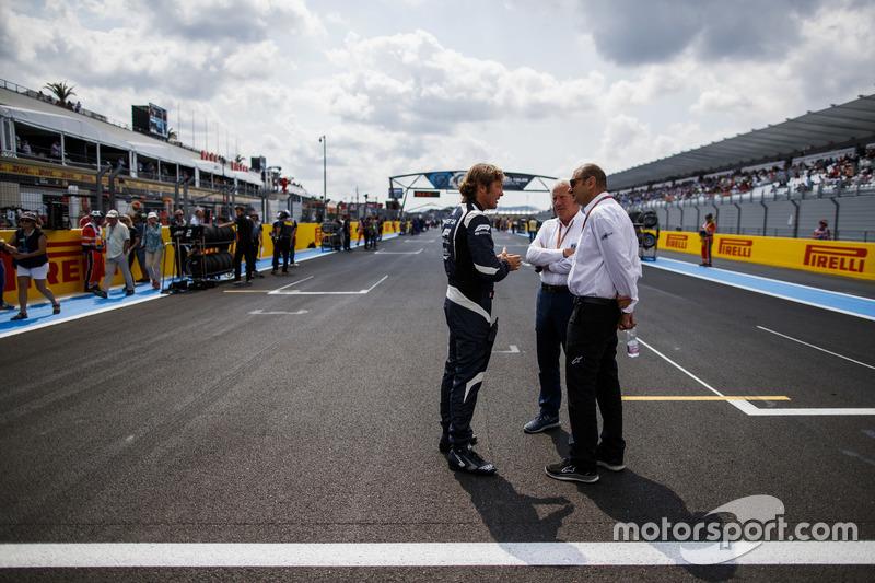 Charlie Whiting, Race Director, FIA, Bruno Michel, and Marco Codello