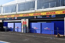Scuderia Toro Rosso garage and screens
