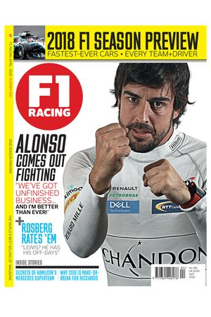 Cover F1 Racing magazine april 2018