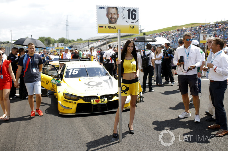 Grid girl of Timo Glock, BMW Team RMG, Budapest