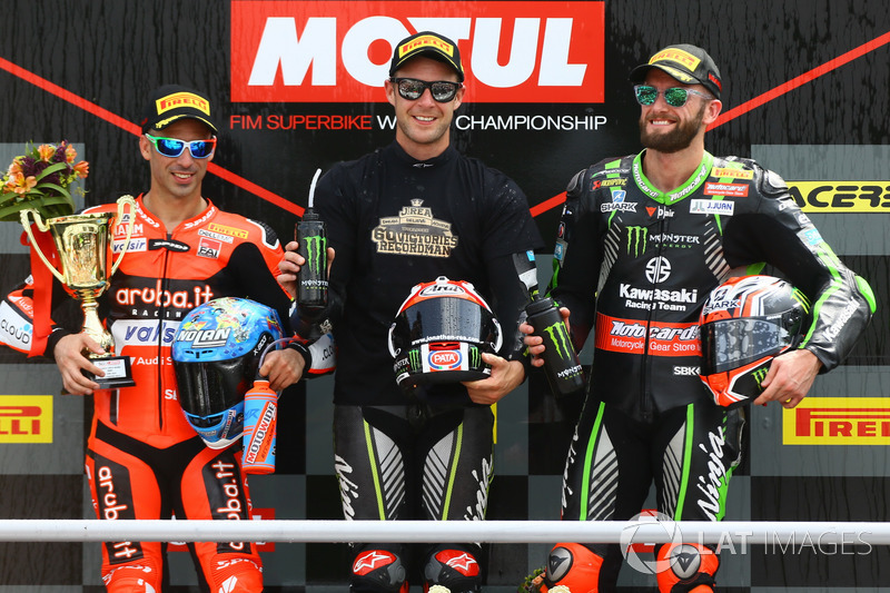 Rea, Melandri et Sykes sur le podium de la Course 1