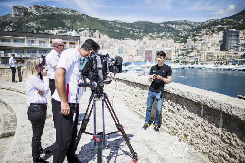 Jack Aitken, ART Grand Prix, is interviewed by FOM TV