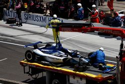 Takuma Sato, Rahal Letterman Lanigan Racing Honda, crash