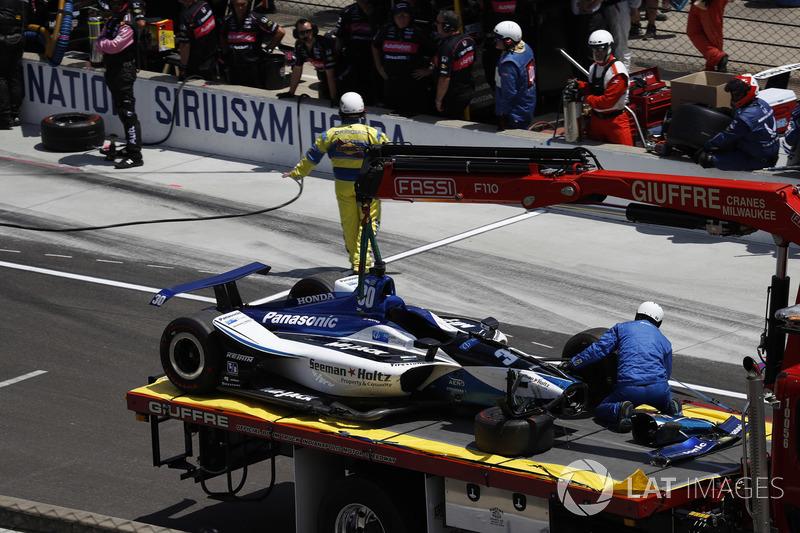 L'incidente di Takuma Sato, Rahal Letterman Lanigan Racing Honda