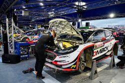el auto de Elfyn Evans, Daniel Barritt, Ford Fiesta WRC, M-Sport