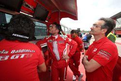 Giancarlo Fisichella, Scuderia Baldini 27, al muretto box