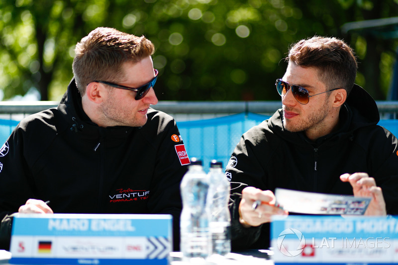 Maro Engel, Venturi Formula E Team, Edoardo Mortara, Venturi Formula E Team, at the autograph session