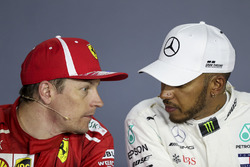 Kimi Raikkonen, Ferrari and Lewis Hamilton, Mercedes-AMG F1 in the Press Conference