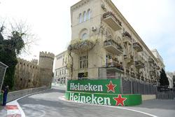 Track view and Heineken signage