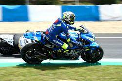 Andrea Iannone, Team Suzuki MotoGP, sort de la trajectoire