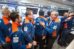 Hyundai Motorsport team members celebrate the win
