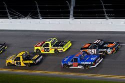 Grant Enfinger, ThorSport Racing, Champion Power Equipment/Curb Records Ford F-150 and Matt Crafton,