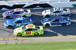 A.J. Allmendinger, JTG Daugherty Racing Chevrolet Camaro, Kyle Larson, Chip Ganassi Racing Chevrolet