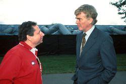 Jean Todt, directeur de Ferrari, avec le président de la FIA, Max Mosley