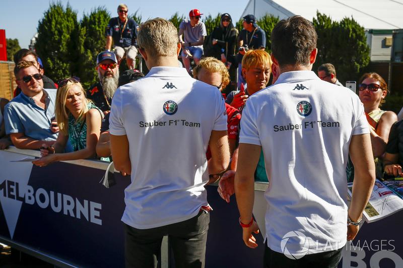 Marcus Ericsson, Sauber, e Charles Leclerc, Sauber