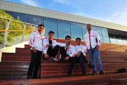 Awhin Sanjaya, Irfan Ardiansyah, Andi Gilang, Mario Suryo Aji dan Rheza Danica, Astra Honda Racing Team