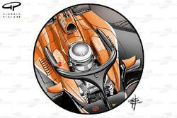 Кокпит McLaren MCL32 с Halo