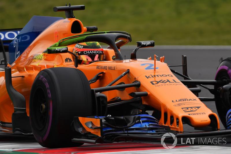 Stoffel Vandoorne, McLaren MCL33, pintura aerodinámica en halo
