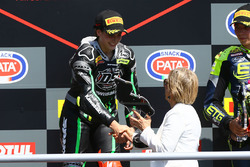 Podium: race winner Ana Carrasco