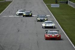 #48 Paul Miller Racing Lamborghini Huracan GT3, GTD: Madison Snow, Bryan Sellers, #63 Scuderia Corsa Ferrari 488 GT3, GTD: Cooper MacNeil, Gunnar Jeannette.