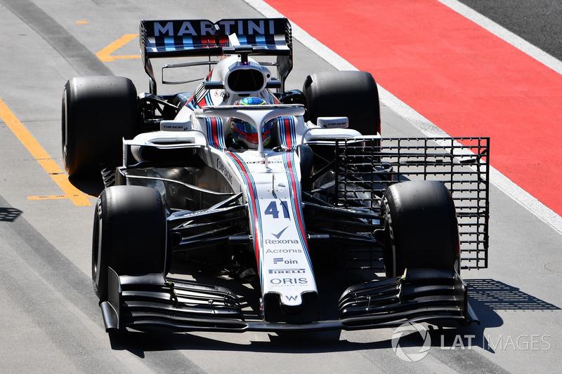 Oliver Rowland, Williams FW41, con dei sensori aerodinamici