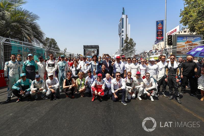 El presidente de la FIA, junto con Jean Todt, presidente de la FIA y Alejandro Agag, CEO de Fórmula E