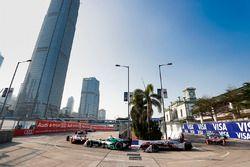 Lucas di Grassi, Audi Sport ABT Schaeffler, leads Maro Engel, Venturi Formula E