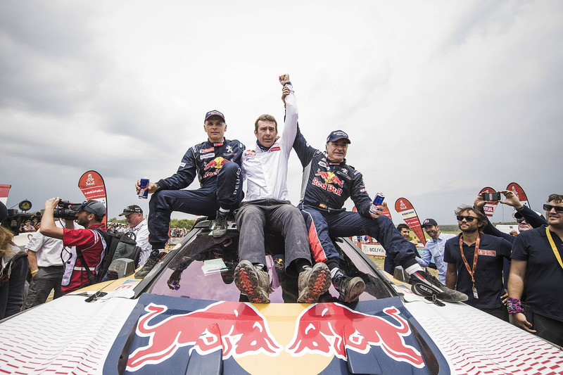Car winners Carlos Sainz, Lucas Cruz, Peugeot Sport