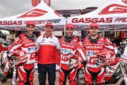 Jonathan Barragán, Johnny Aubert en Cristian España, Giovanni Sala, GasGas Rally Team