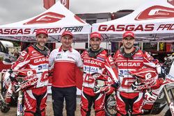 Jonathan Barragán, Johnny Aubert y Cristian España, Giovanni Sala, GasGas Rally Team