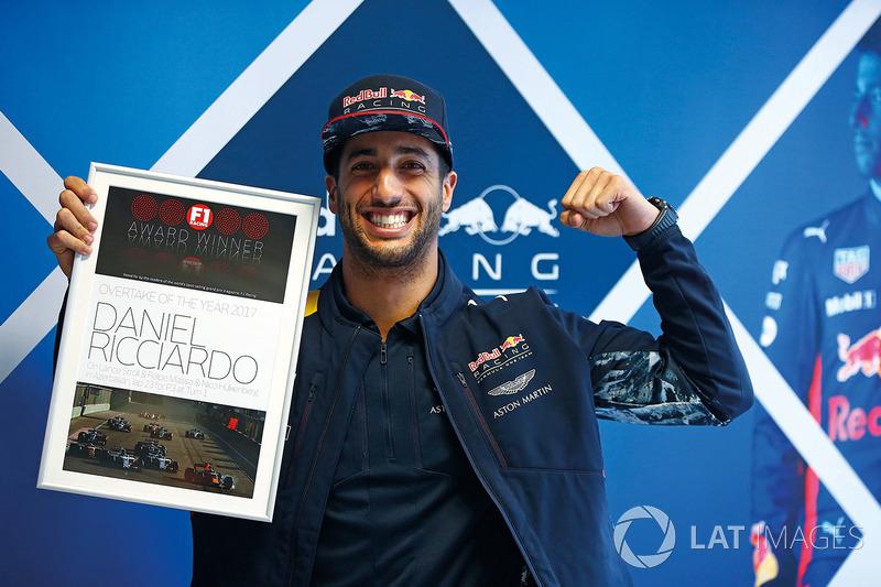 Daniel Ricciardo, Red Bull Racing, Adelantamiento el año 2017