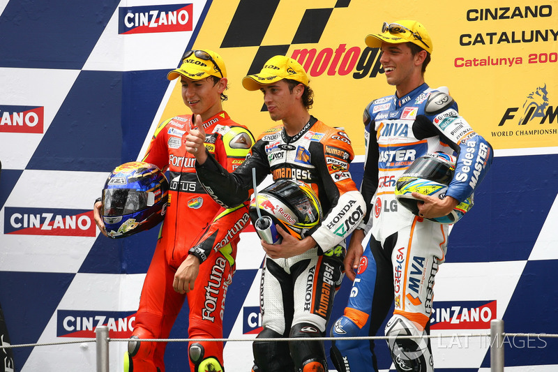 2006: 250cc (Moto2), Campeão - Jorge Lorenzo - Fortuna Aprilia; Andrea Dovizioso e Alex De Angelis