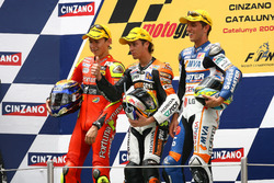 Podium: Jorge Lorenzo, Andrea Dovizioso and Alex De Angelis